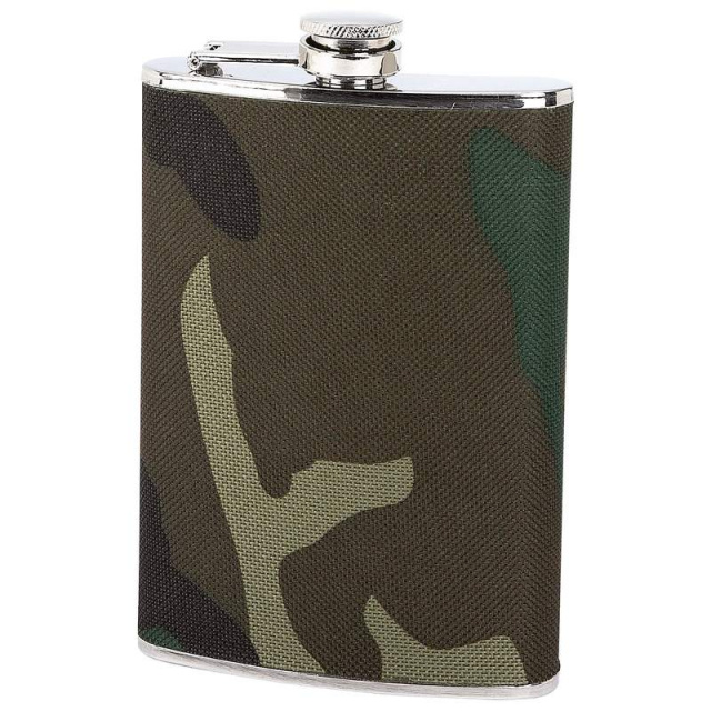 Maxam® 8oz Stainless Steel Flask with Camouflage Wrap