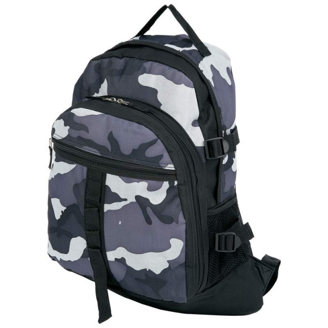 Extreme Pakâ?¢ Black and Gray Urban Camouflage Backpack