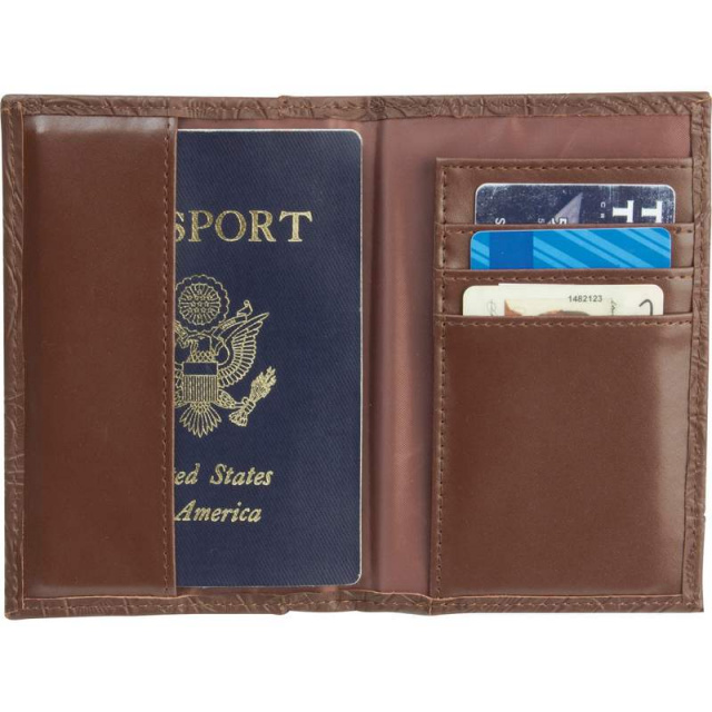 Casual Outfittersâ?¢ Brown Solid Genuine Leather Passport Cover