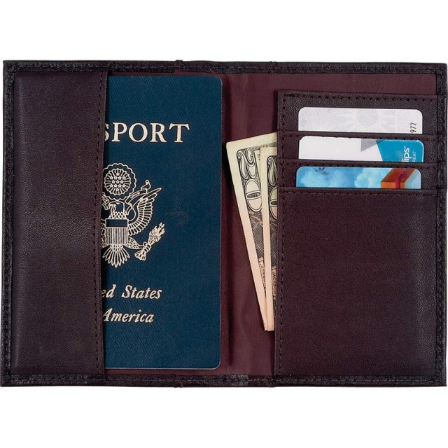 Embassyâ?¢ Solid Genuine Leather Brown Passport Cover