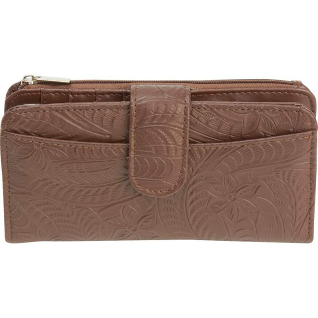 Casual Outfittersâ?¢ Brown Solid Genuine Leather Ladies' Wallet